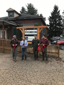 (L to R: Brock Sanner, Forecon Office Manager; Andy Johnson, P.E., CPESC, EcoStrategies; Andy Chapman, Licensed Surveyor; Matt Robinson, Licensed Surveyor)