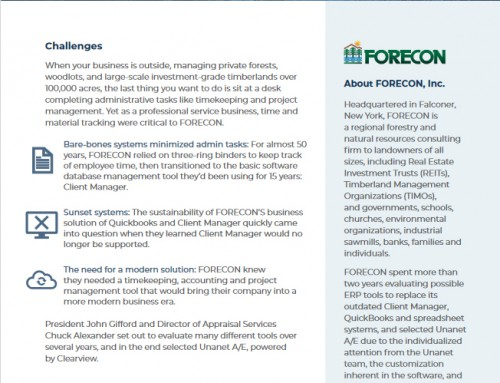 FORECON Streamlines Operations and Gains Vital Insight with Unanet A/E